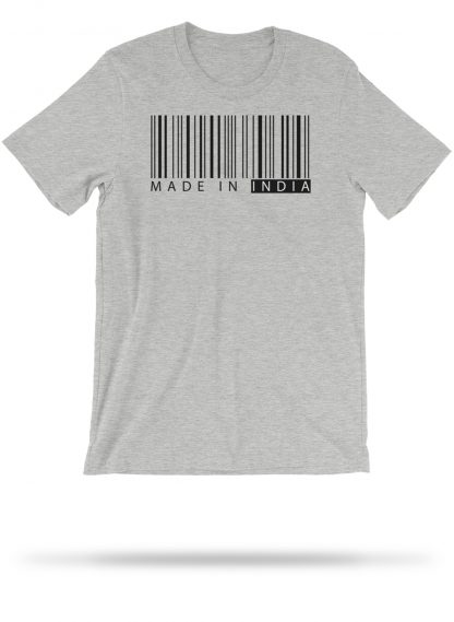 made in india   tshirt   athletic heather