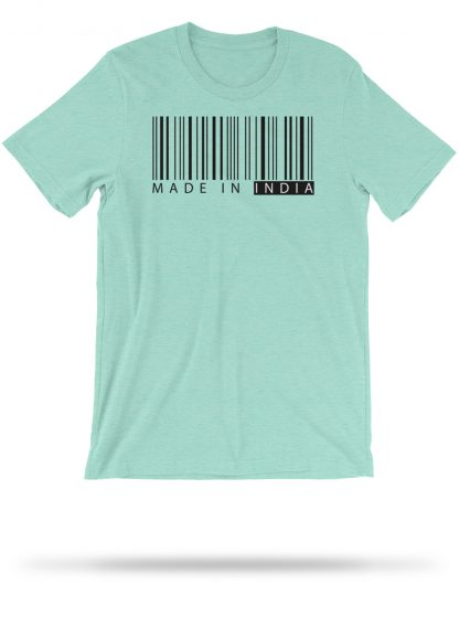 made in india   tshirt   heather mint