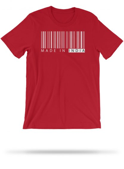 made in india   tshirt   red