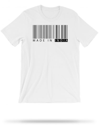 made in india   tshirt   white